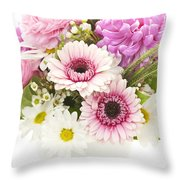 Bouquet Of Flowers Throw Pillow by Elena Elisseeva