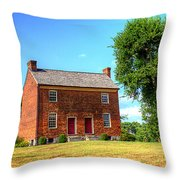 Bowen Plantation House 002 Throw Pillow by Barry Jones