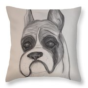 Boxer Throw Pillow by Maria Urso