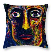 Boxer Throw Pillow by Natalie Holland