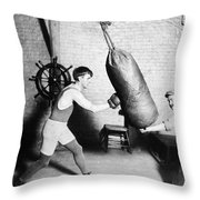 Boxing: Bat Nelson, 1920 Throw Pillow by Granger