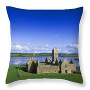Boyle Abbey, Ballina, Co Mayo Throw Pillow by The Irish Image Collection