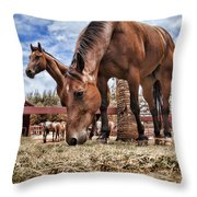 Break Time Throw Pillow by Kelley King