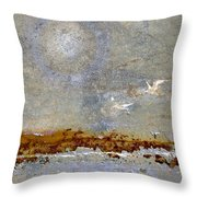 Breakwater Throw Pillow by Carol Leigh