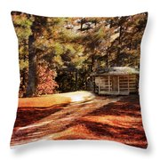Brewer Cabin Throw Pillow by Jai Johnson