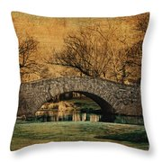 Bridge From The Past Throw Pillow by Nishanth Gopinathan