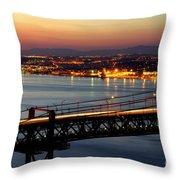 Bridge Over Tagus Throw Pillow by Carlos Caetano
