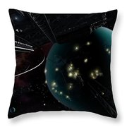 Bright Blisters Of Nuclear Energy Throw Pillow by Brian Christensen