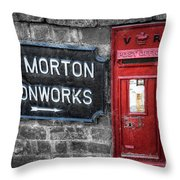 British Mail Box Throw Pillow by Adrian Evans