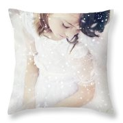 Broken Throw Pillow by Stephanie Frey