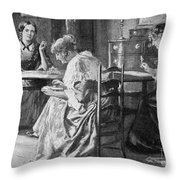 BrontË Sisters Throw Pillow by Granger