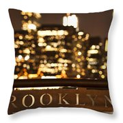 Brooklyn Bubbly Throw Pillow by Andrew Paranavitana