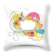 Bubble Speech Throw Pillow by Setsiri Silapasuwanchai