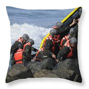 Buds Participate In Rock Portage Throw Pillow by Stocktrek Images