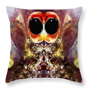 Bug Eyes Throw Pillow by Skip Nall