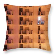 Building Facade Throw Pillow by Carlos Caetano