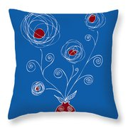 Bulb Flower Throw Pillow by Frank Tschakert