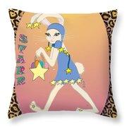 Bunnie Girls- Starr- 2 Of 4 Throw Pillow by Brenda Dulan Moore