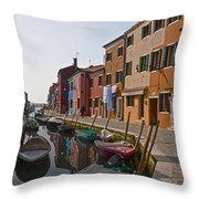 Burano - Venice - Italy Throw Pillow by Joana Kruse