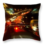 Busy Highway Throw Pillow by Carlos Caetano