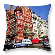 Busy street corner in London Throw Pillow by Elena Elisseeva