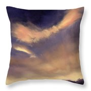 Butterfly Clouds Throw Pillow by Antonia Myatt