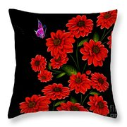 Butterfly Garden Throw Pillow by Cheryl Young