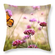 Butterfly - Monarach - The Sweet Life Throw Pillow by Mike Savad