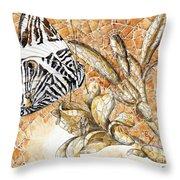 Butterfly Mosaic 02 Elena Yakubovich Throw Pillow by Elena Yakubovich
