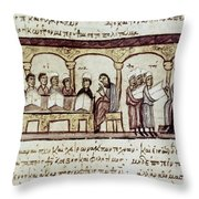 Byzantine Philosophy School Throw Pillow by Granger