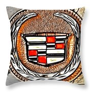 Cadillac Throw Pillow by Cheryl Young