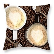 Caffe Latte For Two Throw Pillow by Gert Lavsen