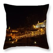 Calahorra At Night Throw Pillow by RicardMN Photography