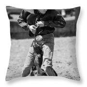 Calf Roper Throw Pillow by Michelle Wrighton