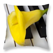 Calla Lily On Keyboard Throw Pillow by Garry Gay