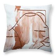 Calm - Tile Throw Pillow by Gloria Ssali