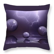 Calm Before The Storm Throw Pillow by Shane Bechler