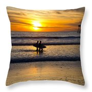 Calm Waters Throw Pillow by Athena Lin