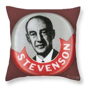 Campaign Button Throw Pillow by Granger