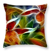 Candy Lily Fractal  Throw Pillow by Peter Piatt