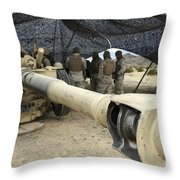 Cannoneers Take Advantage Of Some Throw Pillow by Stocktrek Images
