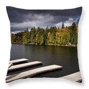 Canoe Lake Throw Pillow by Cale Best
