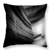 Canyon Curves in Black and White Throw Pillow by Christine Till