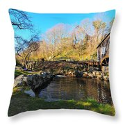 Cape Cod Grist Mill Throw Pillow by Catherine Reusch  Daley