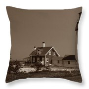Cape Cod Lighthouse Throw Pillow by Skip Willits
