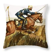 Captain Beresford in The Zulu Wars Throw Pillow by James Edwin McConnell