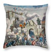 CAPTURE OF BASTILLE, 1789 Throw Pillow by Granger