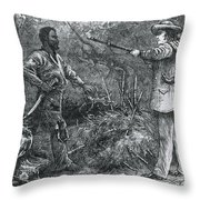 Capture Of Nat Turner, American Rebel Throw Pillow by Photo Researchers