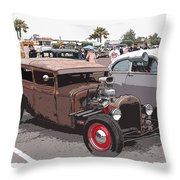 Car Show 1928 Throw Pillow by Steve McKinzie