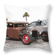 Car Show Cool Throw Pillow by Steve McKinzie